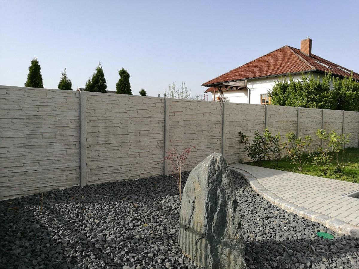 Betonzaun Gespaltete Stein Classic L 200 Cm H 200cm B 4 5 Cm