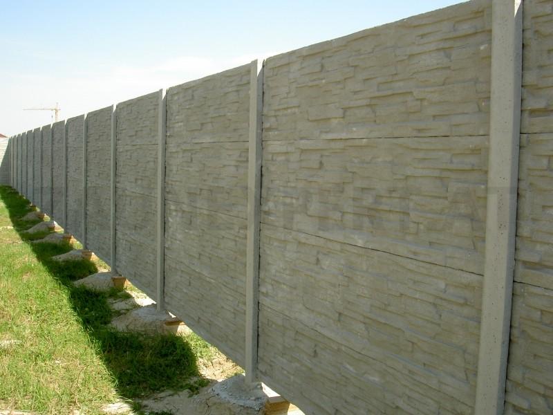 betonzaun gespaltete stein classic l 200 cm h 200cm b 4 5 cm. Black Bedroom Furniture Sets. Home Design Ideas
